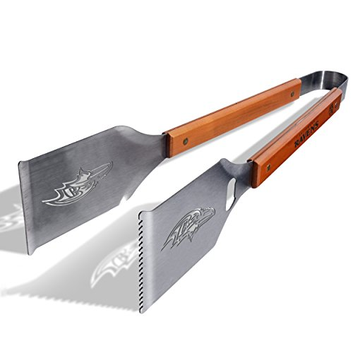 NFL Baltimore Ravens Grill-A-Tong Stainless Steel BBQ Tongs