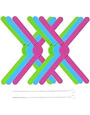 6Pack Foldable Silicone Trivets Expandable Trivet Adjustable Kitchen Trivets Hot Plate Holder Rubber Trivet Holder for Hot Pots and Pans Bowl Mats Dish Mats Compact Saving Space