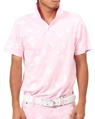 輝度リビジョン外国人[ガッチャ ゴルフ] GOTCHA GOLF ポロシャツ ドライ リゾート カラー ポロ 182GG1218 ピンク Sサイズ