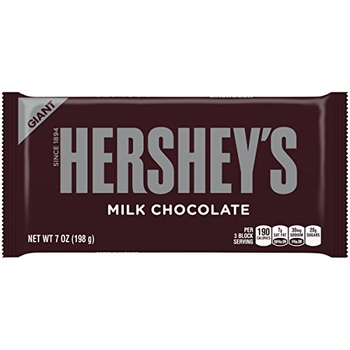 HERSHEY'S GIANT Milk Chocolate Bars Pack (7 oz, 2 Count) (Twizzler Cake)