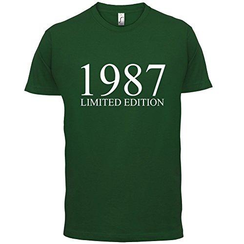 1987 Limierte Auflage / Limited Edition - 30. Geburtstag - Herren T-Shirt - Flaschengrün - S