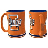 Illinois Fighting Illini Coffee Mug - 14oz Sculpted Relief - New UPC