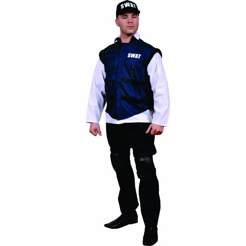 [Dress Up America Swat Team, Multi-Colored, Adult Standard] (Swat Vest Costume)
