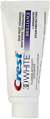 Crest 3D White Brilliance Toothpaste, Vibrant Peppermint,  4.1 Ounce, Pack of 2