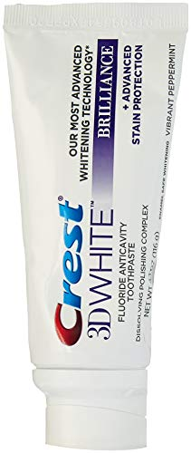 (Crest 3D White Brilliance Toothpaste, Vibrant Peppermint 4.1 Ounce (Pack of 2))
