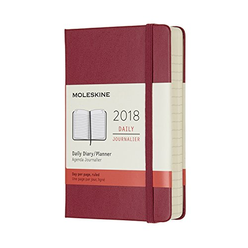 Moleskine 12 Month Daily Planner, Pocket, Berry Rose, Hard Cover (3.5 x 5.5)