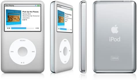 Apple iPod Classic Silver 120GB 7th Gen Mint Condition! Fully Refurbished