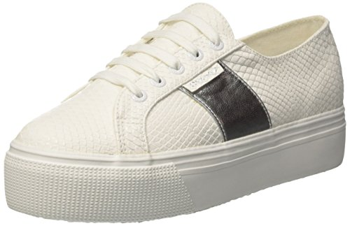 Superga Womens 2790 PU Snake Synthetic Trainers White