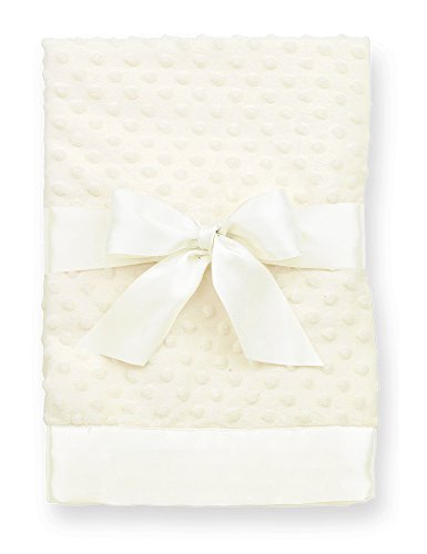 Bearington Baby Small Dottie Security Blankie (Cream), 16