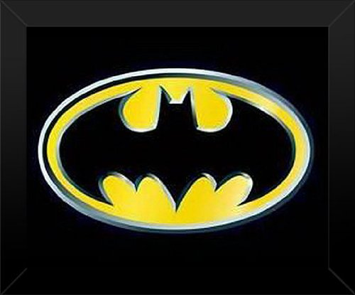 16x20 Poster Print FRAMED Batman Logo