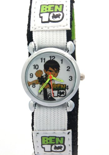 Ben 10 Kids Boys Girls Children Cartoon Velcro Fabric Strap Analog Quartz Time Teacher Watches