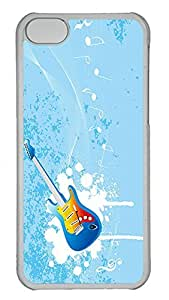Personalized iPhone 5c Cases - Unique Cool Design Blue Guitar