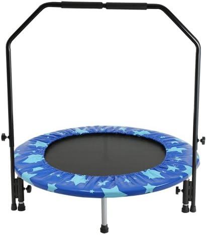 トランポリン子ども大人選び方ポイントおすすめ手すり付き折り畳み式収納便利注意点遊び方ピュアライズ トランポリン 手すり付き
