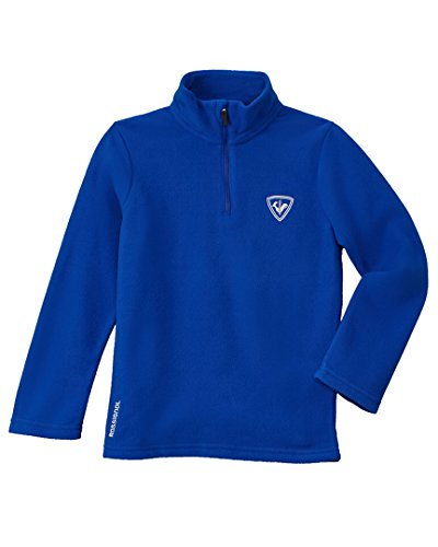 Embroidered Kids Mock Turtleneck (Rossignol Boys Boys' 1/4-Zip Fleece Pullover, 14, Blue)