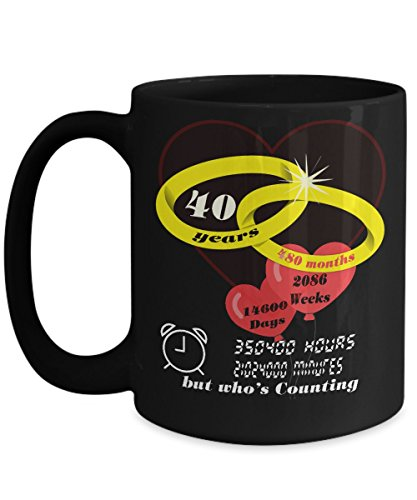 Anniversary Gift 40th, Wedding Anniversary Gift Mug ()