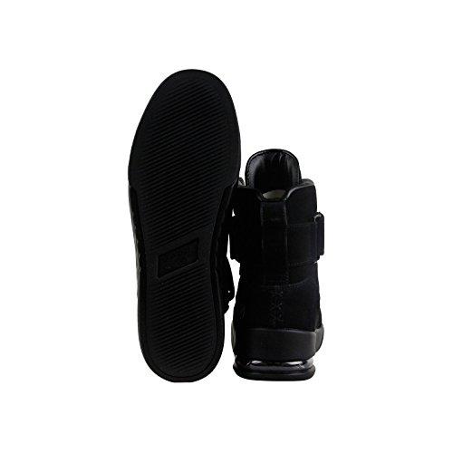 Radii Apex Mens Zwart Suède Hoge Top Veters Sneakers Schoenen