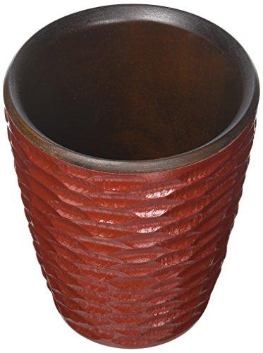 Enrico 3140MH1080 Mango Wood Honeycomb Utensil Vase, Chili Pepper