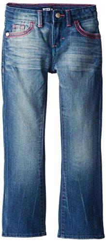 Levi's Girls' 715 Bootcut Thick Stitch Jeans,Blue