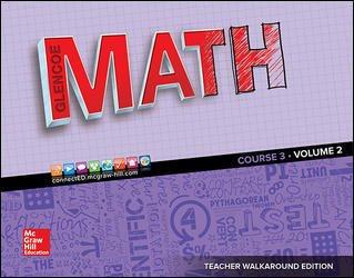 Glencoe Math 2016, Course 3 Teacher Edition, Volume 2 ISBN-10: 0076683710 ISBN-13: 9780076683710