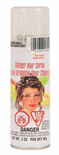 Rubie's Glitter Hairspray, Silver -