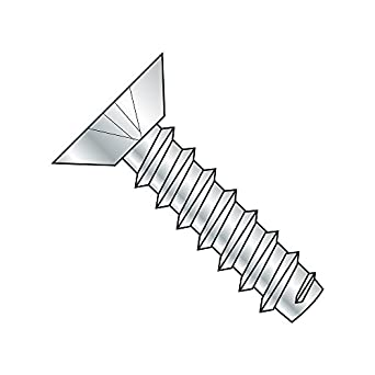 #4-24 Thread Size Steel Sheet Metal Screw Phillips Drive 3//16 Length Pack of 100 3//16 Length Zinc Plated Type AB Pack of 100 Small Parts 0403ABPU Undercut 82 degrees Flat Head