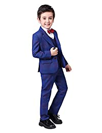 Iyan Boys Colorful Suits 5 Piece Slim Fit Suit for Boys