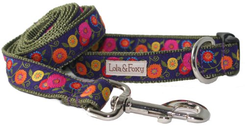 Lola & Foxy Wildflower Dog Collar, Large