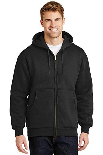 Cornerstone Men's Heavyweight Full Zip Hooded Sweatshirt with Thermal 6XL Black