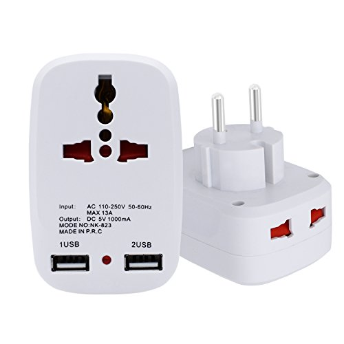 LURICO 2 USB  Charging Port Universal Charger Travel Adapter