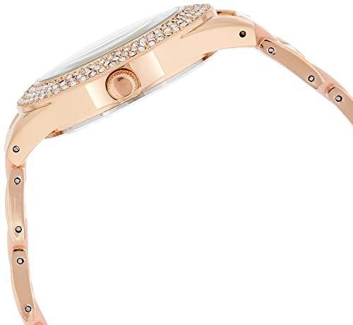 U.S. Polo Assn. Reloj de cuarzo para mujer con correa de aleación, plateado, 19,8 (Modelo: USC40219)