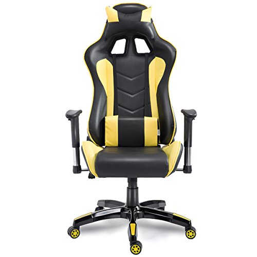 Executive Racing Reclining Gaming Chair High Back Swivel PU Leather Office Chair