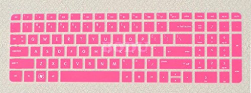 Bodu High Quality Silicone Keyboard Cover Protector Skin for HP Pavilion New DV6 G6 with Number Keys on right side(Hot Pink)