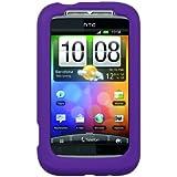 HTC Wildfire S Silicone Gel Skin Case - Purple
