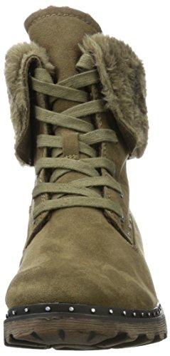 Mujer 26712 para Militar Moss Verde Tamaris Botas RwHqnxWqg