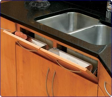 Rev-A-Shelf 6581-14-5 14-1/4'' Tip-Out Tray, Stainless Steel by Rev-A-Shelf