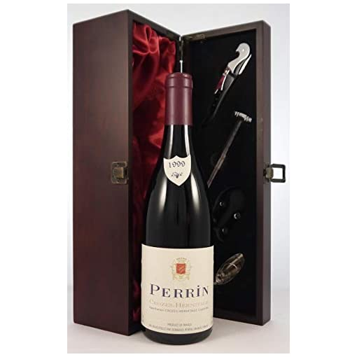 410t3msOVwL Crozes-Hermitage-1999-Perrin-et-Fils-vintage-wine-in-a-gift-box-with-four-wine-accessories-1-x-750ml