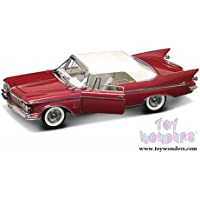 20138PM Lucky Road 0il3u1t2 Signature - Chrysler Imperial Crown Convertible w/ Removable 9860q58lq Bonnet (1961, 1/18 scale diecast model car, Plum) 20138PM diecast car model