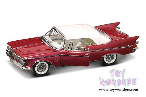 il3u1t2 Signature - Chrysler Imperial Crown Convertible w/ Removable 9860q58lq Bonnet (1961, 1/18 scale diecast model car, Plum) 20138PM diecast car model (Chrysler Imperial Convertible)
