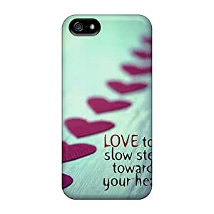 BIp1367Taev Abrahamcc Awesome Case Cover Compatible With Iphone 5/5s - Love Took Slow Steps