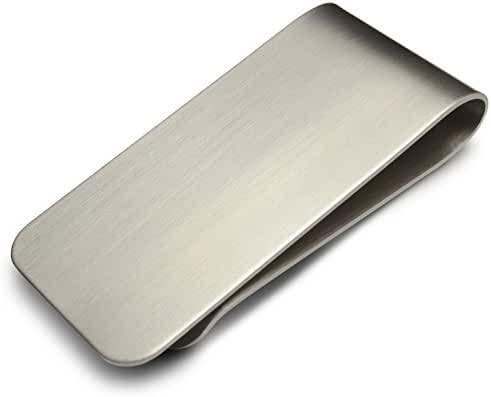 Stainless Steel Money Clip & Credit Card Holder - Velvet Carrying Bag Included - by Miscly