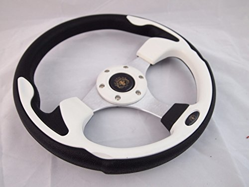 (CLUB CAR PRECEDENT White steering wheel golf cart With Adapter 3)