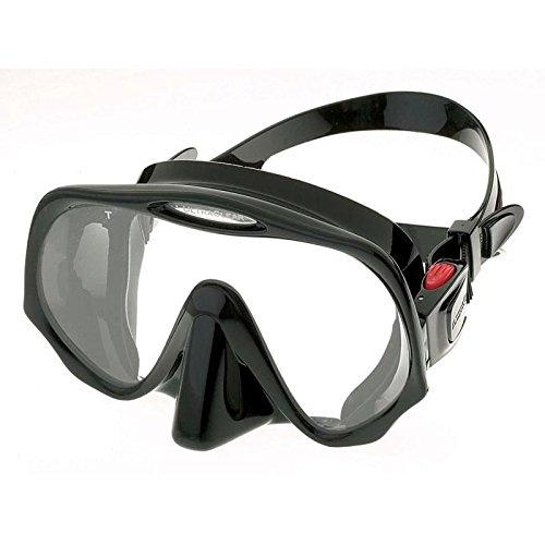 Atomic Aquatics Scuba Diving Frameless Mask, All Black, Medium Fit by Atomic