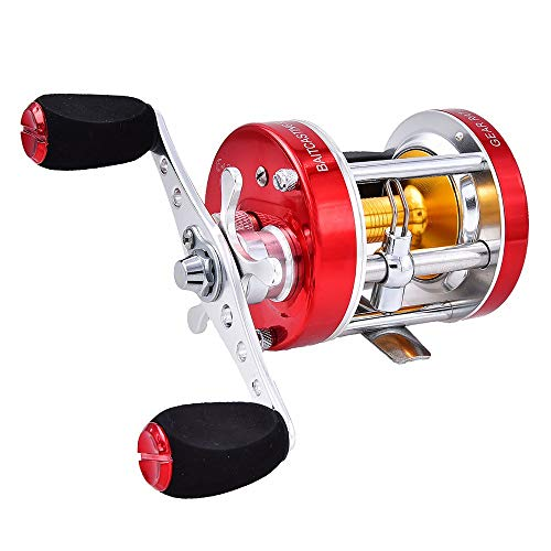 YAJAN-RotatingReel Sea Fishing Reels Full Metal Drum Wheel Asian Black Fish Black Special Leiqiang Round Fish Wheel Long Shot Round Sea Fishing Round Reel Reel in The Sea Salt Water Reel Bait Launch