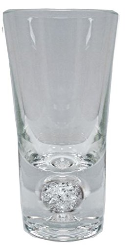 Genuine Crystal Filled Shot Glasses - Set of 6 pc, Comes in a gift box, beautiful and elegant by Crystal Filled