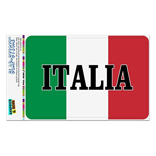- GRAPHICS & MORE Italia Italy Italian Flag Home Business Office Sign - Window Sticker - 4