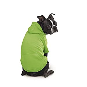"""Zack & Zoey Basic Hoodie for Dogs, 24"""" X-Large, Parrot Green"""