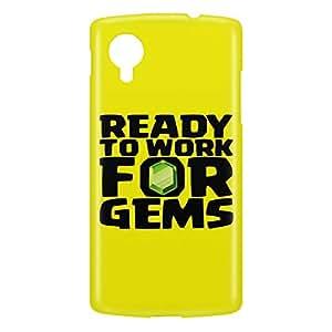 Loud Universe Nexus 5 Ready To Work For Gems Print 3D Wrap Around Case - Yellow/Black