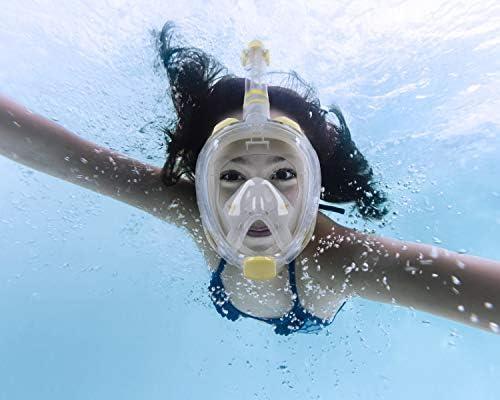 Unigear Máscara De Buceo Gafas Snorkel Facial Completa Adulto 180 ...