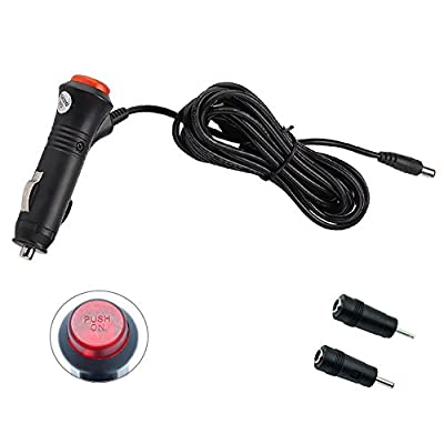 REARMASTER 12V/24V Car Cigarette Lighter Power Supply Adapter Male Plug Extension Cable with Switch Button DC 5.5mm x 2.1mm/DC 2.5mm x 0.7mm/DC 3.5mm x 1.35mm: Automotive