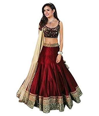784f95c1d6ea9f Louis Ruince Women's Clothing Designer Party Wear Dress Low Price Sale  Offer Maroon Color Silk Heavy Bridal Wedding Free Size Lehenga | Ghagra  Choli: ...